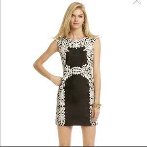 Tibi Black and White 100% Silk Dress Size 6